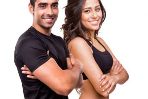 physically fit man and woman