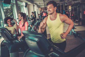 man in treadmill